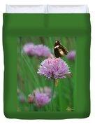 Butterfly On Clover Duvet Cover