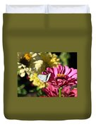 Butterfly On Flower Duvet Cover