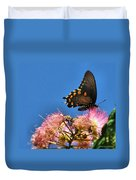 Butterfly On Mimosa Blossom Duvet Cover