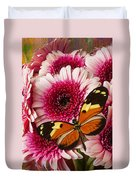 Butterfly On Pink Mum Duvet Cover