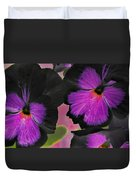 Butterfly Pansies Duvet Cover