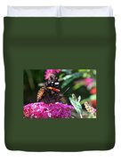 Butterfly Plant At Work Duvet Cover