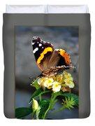 Butterfly Sipping Lantana Luscious Lemonade   Duvet Cover