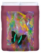 Butterfly Wall Duvet Cover