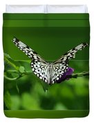 Butterfly White 16 By 20 Duvet Cover