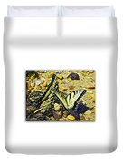 Butterlies At The Beach Duvet Cover