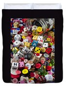 Buttons And Dice Duvet Cover