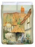 By The Cottage Door Duvet Cover
