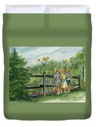 By The Garden Fence  Duvet Cover