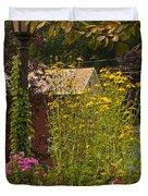 By The Light Of The Garden Duvet Cover