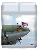 C-46 Tinker Belle Honors American Heros Duvet Cover