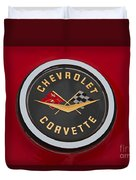 C1 Corvette Emblem Duvet Cover
