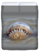 Cabbage Head Jellyfish  Duvet Cover