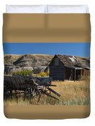 Cabin And Wagon Alberta  Duvet Cover