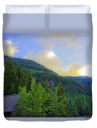 Cabin On The Mountain - Vail Duvet Cover