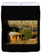 Cabin On The River Duvet Cover