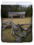 Cable Mill Barn In Cade's Cove No.123 Duvet Cover