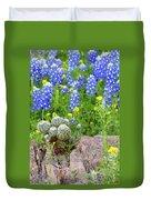 Cactus And Bluebonnets 2am-28694 Duvet Cover