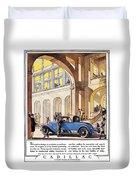 Cadillac Ad, 1927 Duvet Cover