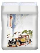Cadillac Ad, 1929 Duvet Cover