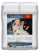 Cadillac Ad, 1955 Duvet Cover