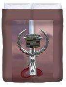 Cadillac Hood Ornament Duvet Cover