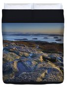 Cadillac Mountain And Frenchman's Bay Duvet Cover