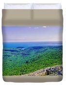 Cadillac Mt  Mt Desert Island Me Ocean View Duvet Cover