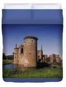 Caerlaverock Castle, Dumfries, Scotland Duvet Cover