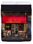 Cafe - Ny - Chelsea - Mappamondo  Duvet Cover by Mike Savad