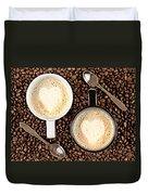 Caffe Latte For Two Duvet Cover by Gert Lavsen