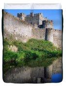 Cahir Castle, River Suir, County Duvet Cover