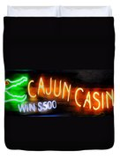 Cajun Casino - Bourbon Street Duvet Cover