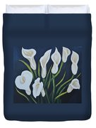 Cala Lilies Duvet Cover by Holly Donohoe