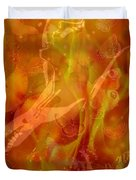 Caliente On Fire With Butterflies Duvet Cover