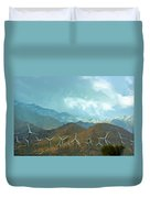 California Desert In Winter Duvet Cover