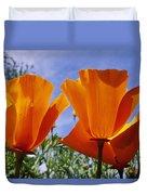 California Poppies Eschscholtzia Duvet Cover