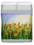 California Poppies Field Duvet Cover