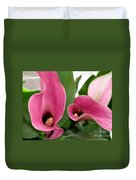 Calla Lilies In Pink Duvet Cover