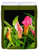 Calla Lillies Duvet Cover