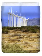 Calm Wind Palm Springs Duvet Cover