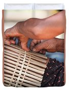 Cambodian Basket Weaver Duvet Cover