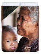 Cambodian Grandmother And Baby #1 Duvet Cover