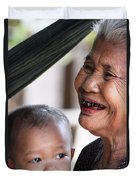 Cambodian Grandmother And Baby #2 Duvet Cover