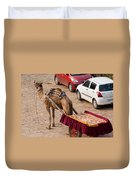 Camel Ready To Take Tourists For A Desert Safari Duvet Cover