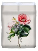 Camellia And Broom Duvet Cover by Marie-Anne