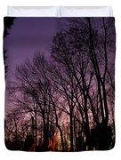 Camp Fire Sunset Duvet Cover