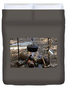 Campfire Cooking Duvet Cover by David Lee Thompson