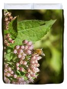 Camphorweed Wildflowers And Honey Bee Duvet Cover