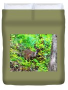 Can I Help You My Deer Duvet Cover